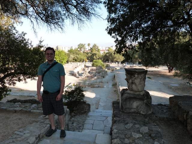 Looking out from the Agora, large area to hike around the ruins