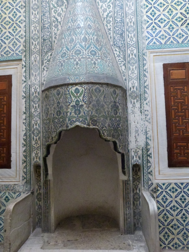 Fancy fireplace, they made rooms small in palaces back then for heating purposes
