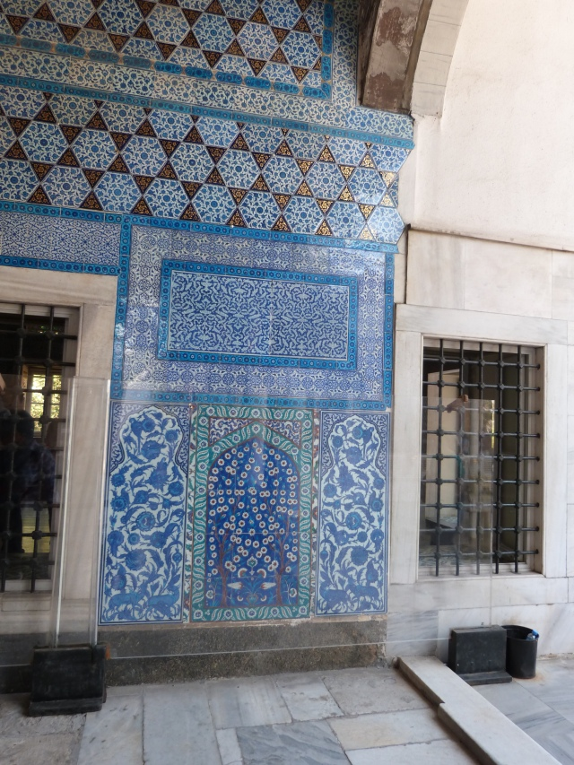 Just look at the turquoise tile!