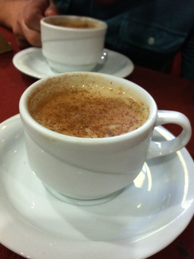Salep, common drink in cold weather.